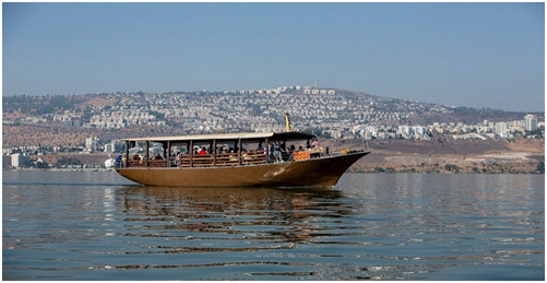 Replica of Wooden Jesus boat by Itamar Grinberg IMOT